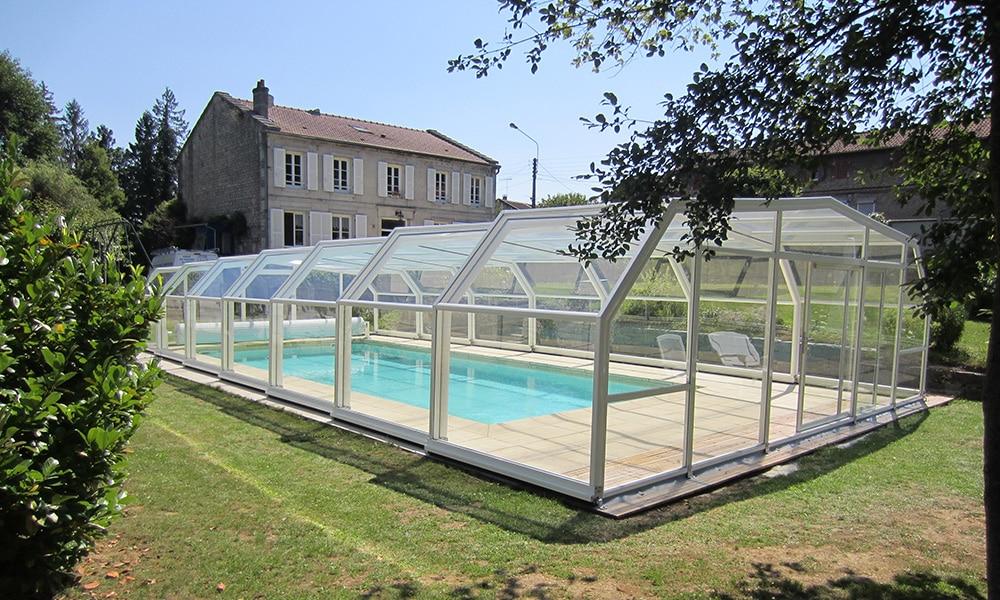 Arcadia hoge zwembadoverkapping - Rachecourt-sur-Marne, Frankrijk