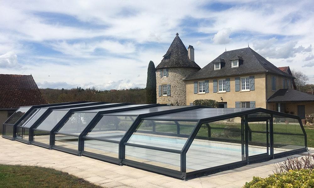 Arcadia middelhoge zwembadoverkapping - Astaillac, Frankrijk