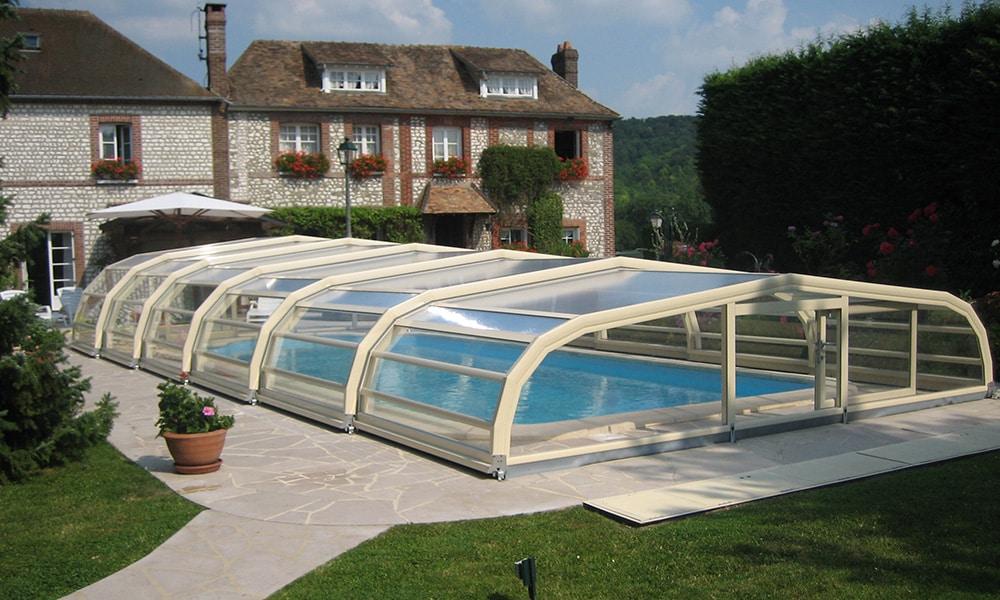 Ondine middelhoge zwembadoverdekking - Poses, Frankrijk