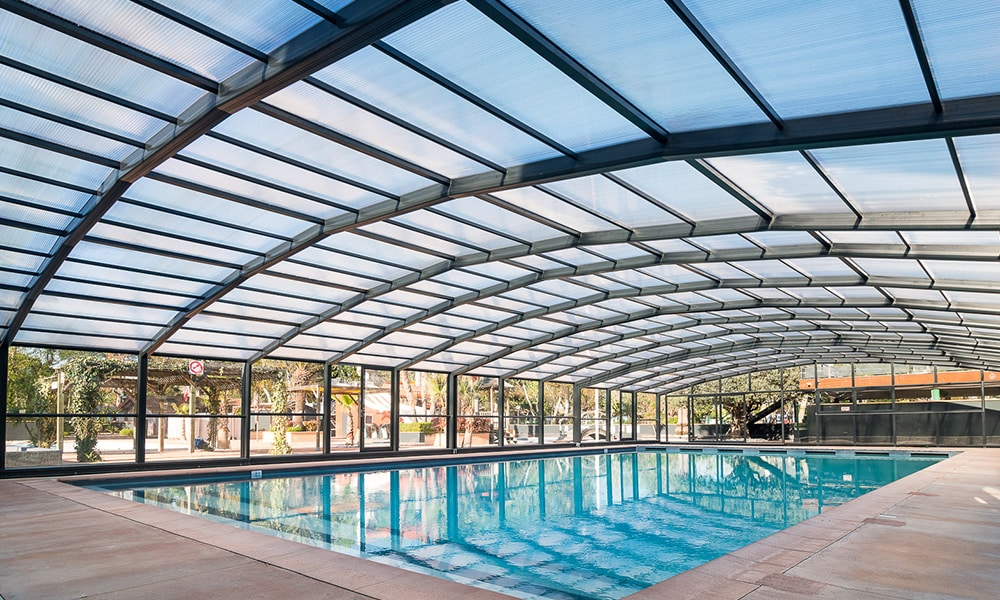 Zwembad overkappingen voor professionals - Camping Les Sablons, Frankrijk