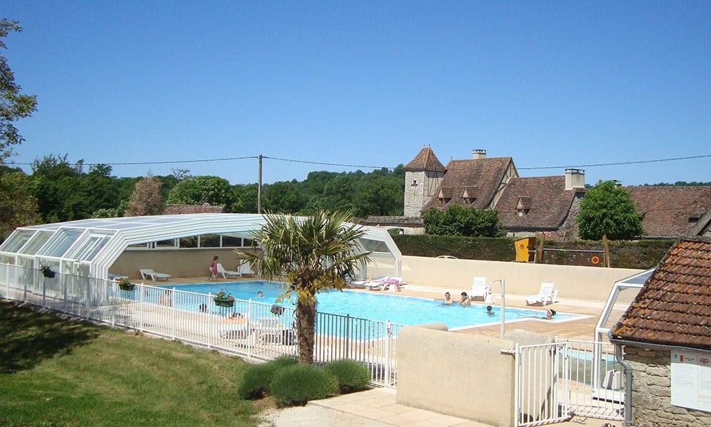 Zwembad overkappingen voor professionals - Camping Le Ventoulou, Frankrijk